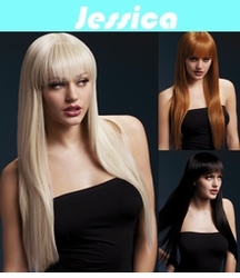 Jessica -Long Straight Wig with Fringe