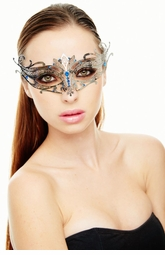 Goddess Masquarade Mask with Gem Crystals