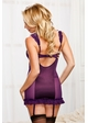 Kassie Satin and Mesh Garter Dress with G-string inset 1