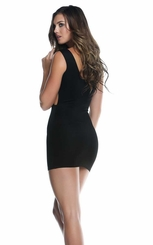 Kavala Black Dress with Criss Cross Waist