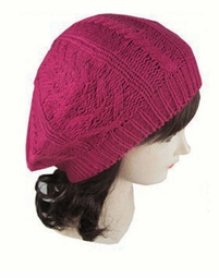 Knit Beret Winter Hat