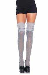 Knit Scrunch Top Over The Knee Sock