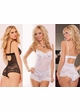 Lace and Mesh Teddy Romper Bodysuit inset 1