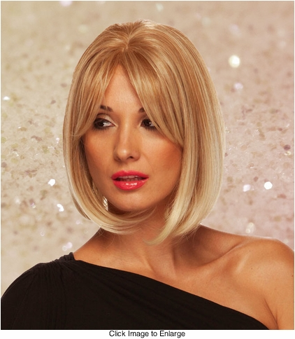 Lace Front  Chic Bob Wig with Long Bangs
