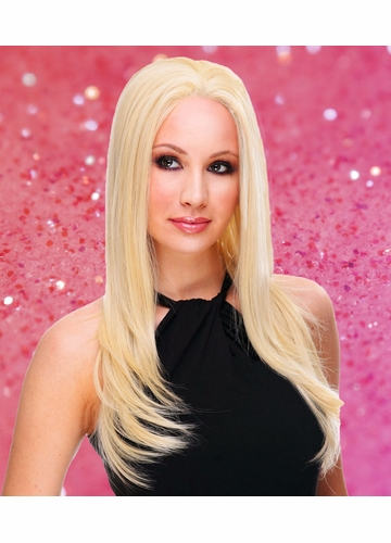 Lace Front Wig with Long Straight Hair Heat and Styling Friendly