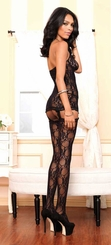 Lace Keyhole Garter Dress and Stockings