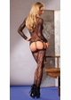 Lace Long Sleeve Suspender Bodystocking inset 1