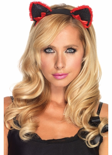Lace Ruffle Kitty Ears Headband