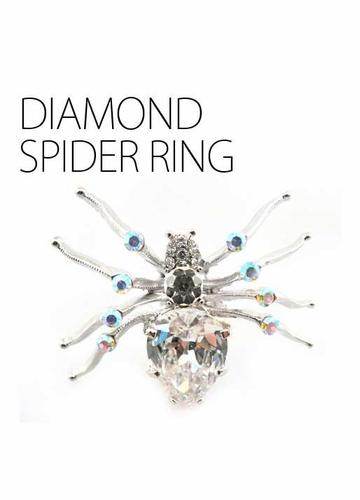 Large Diamond Spider Ring