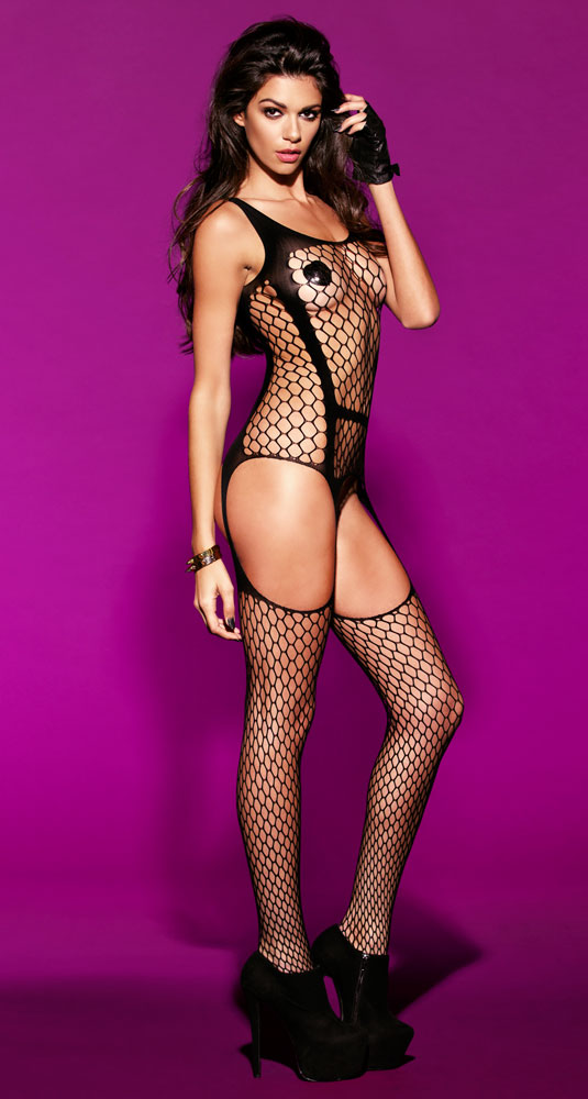 Large Net Bodystocking