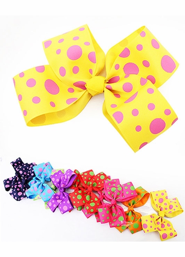 Large Polka Dot Hair Bow