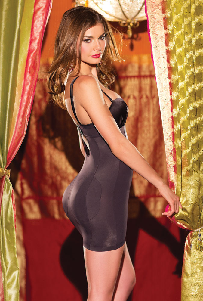 Lauren Satin Shaper Dress