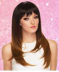Layered Cut Wig with Bangs