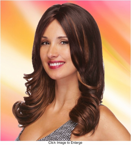 Layered Long Wig with Wavy Curls