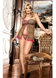 Leopard Mesh Babydoll with G-string inset 1