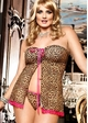 Leopard Mesh Babydoll with G-string inset 2