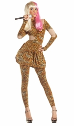 Leopard Rap Superstar Costume