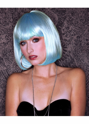 Light Blue Glamour Bob Wig Cindy
