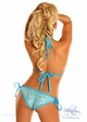 Light Blue Sequin Pucker Back Bikini inset 1