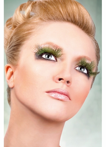 Light Green Feather Lashes