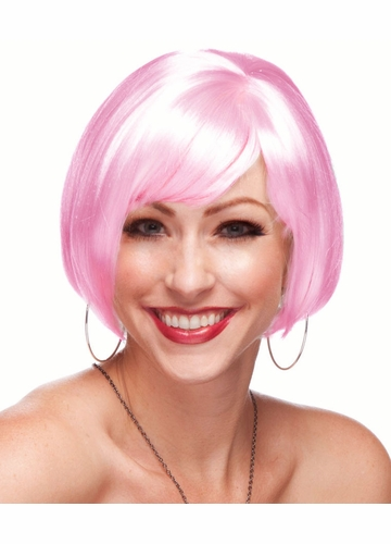 Light Pink Short Bob Wig