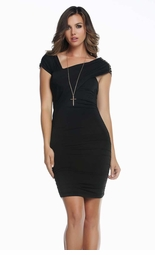 Liguria Mini Dress with Jeweled Shoulders