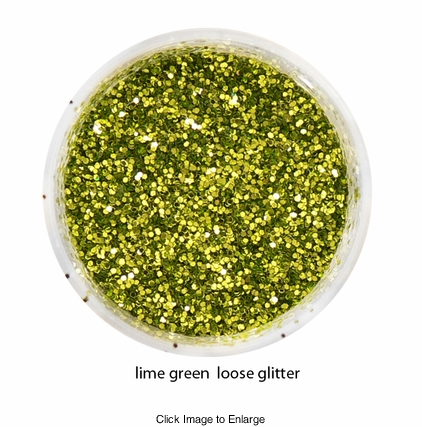 Lime Green Color of Luxe Glitter Powder for Eyeliner and Eye Makeup