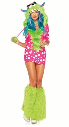 Lime Melody Monster Costume