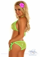 Lime Sequin Pucker Back Bikini inset 1