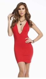 Little Red Kiss Mini Dress