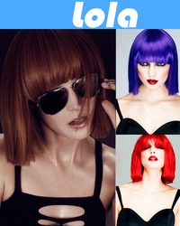 Lola- Blunt Cut Bob Wig with Fringe