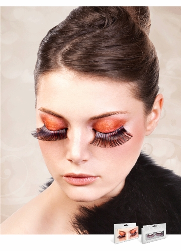 Long Black and Red Metallic Lashes