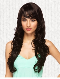 Long Black Burlesque Wig