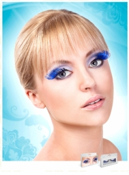 Long Blue and Black Lashes with Extra Volume for $7.00
