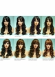 Long Bouncy Curls Human Hair Blend Wig Cadence inset 4