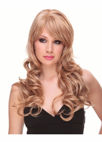 Long Bouncy Glamour Curl Human Hair Blend Wig Noelle