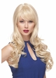 Long Bouncy Glamour Curl Human Hair Blend Wig inset 4