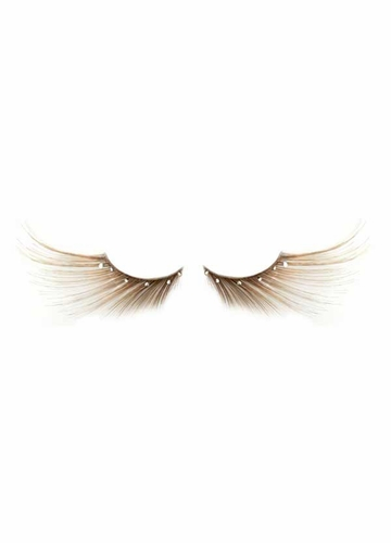 Long Feathered Lashes with Crystals
