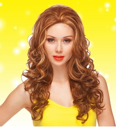 Long Lace Front Wig with Glamour Curls