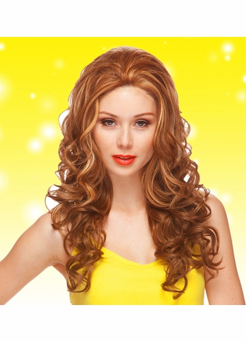 Long Lace Front Wig Sienna with Glamour Curls