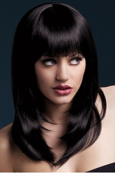 Long Layered Cut Wig Tanja in Black