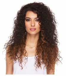 Long Loose Curl Heat Safe 3/4 Wig
