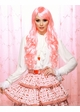Long Pink and Vanilla Wig with Bouncy Curls Plus Two Hair Pieces inset 1
