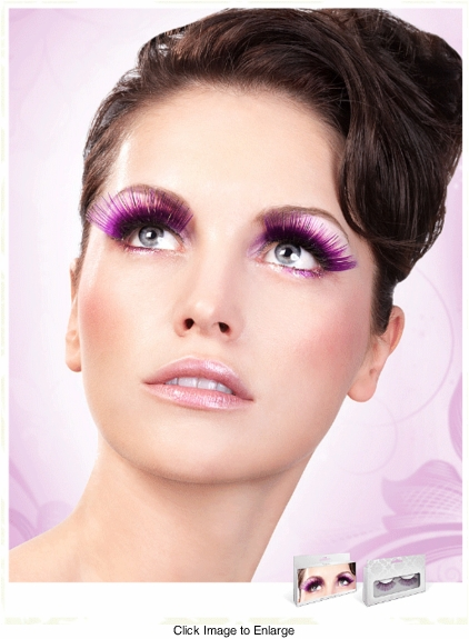 Long Purple and Silver Lashes