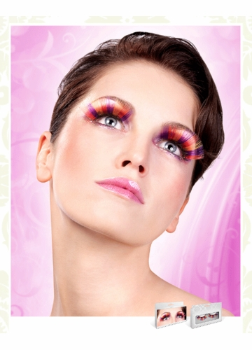 Long Purple, Red and Yellow Lashes