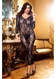 Long Sleeve Lace Footless Bodystocking inset 2