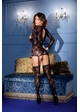 Long Sleeve Lace Suspender Bodystocking with Thong inset 1