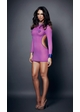 Long Sleeve Ruched Back Mini Dress inset 2