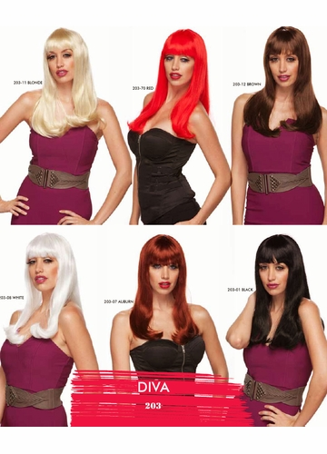 Long Straight Hair Wig Diva