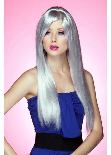 Long Straight Wig Divine with Bangs in Chrome